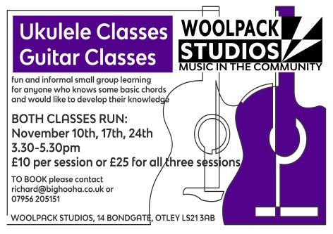 ukulele and guitar courses purple