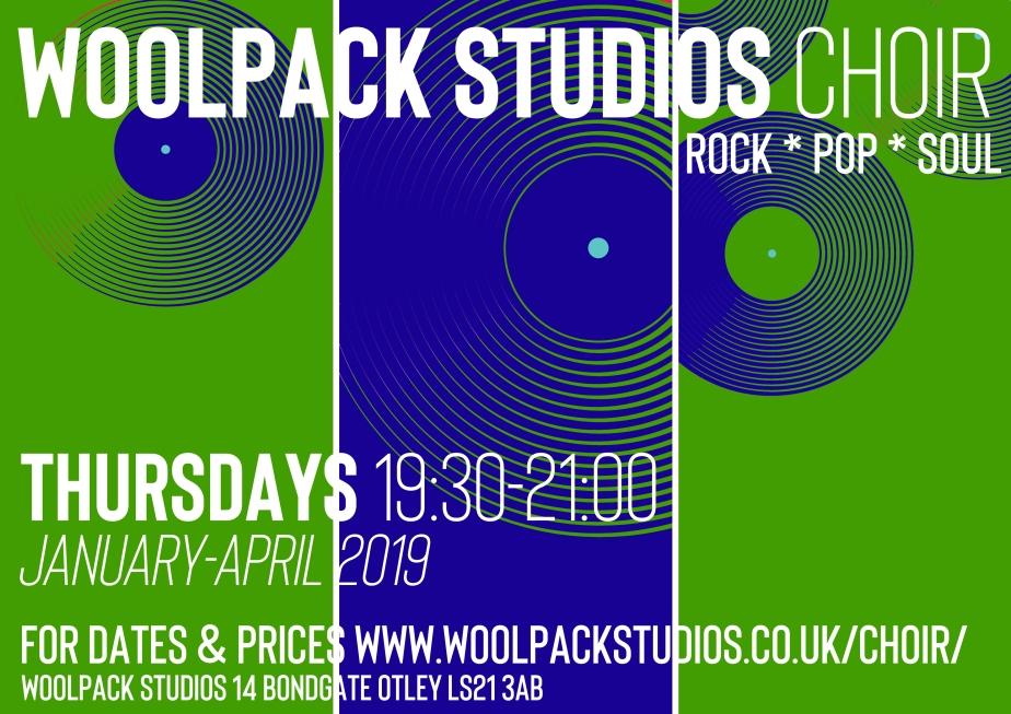 woolpack studios choir poster 2019