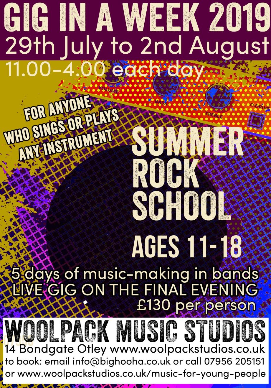 Summer Holiday Rock School
