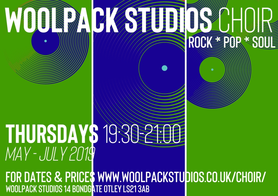 WOOLPACK STUDIOS CHOIR POSTER May 2019