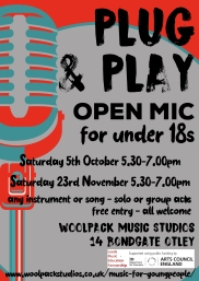 Plug & Play Open Mic for Under 18s